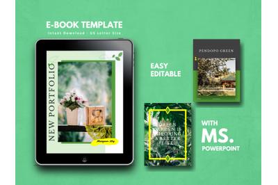 Botanical Photography Portfolio Book Template