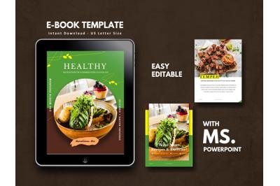 Recipe Book Vegetarian Theme Template