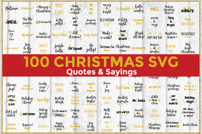 Christmas Quotes and Sayings Bundle SVG Cut Files