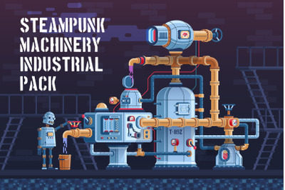 Machinery Steampunk Industrial Pack