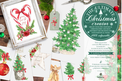Christmas Creator Watercolor Clipart