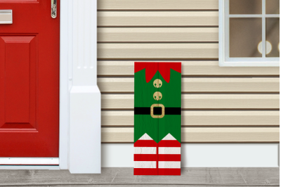 Christmas Elf Porch Sign   SVG   PNG   DXF