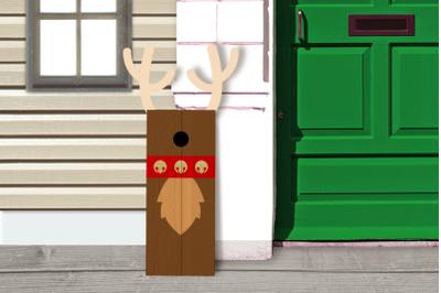 Christmas Reindeer Porch Sign   SVG   PNG   DXF