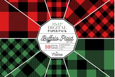 Digital Paper Pack   I   Buffalo Plaid Set 01