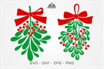 Mistletoe Christmas Svg Design