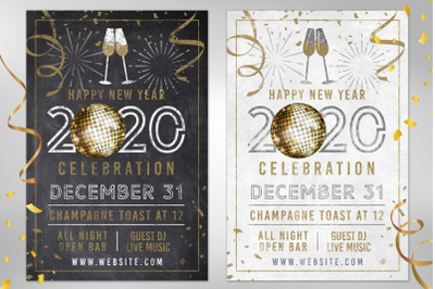 2020 Chalk NYE New Years Eve Party Invite