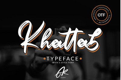 Khattab Brush Font | Font Duo