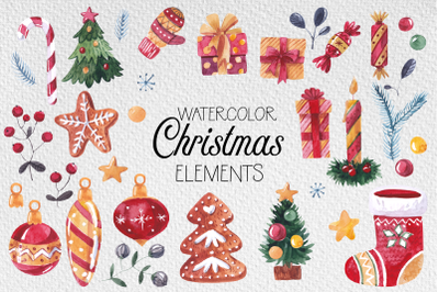 Christmas watercolor collection