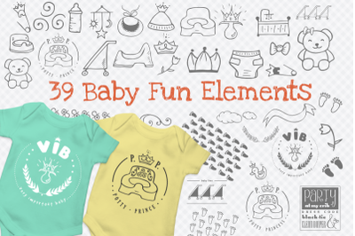Baby Fun Graphics with 39 elements.