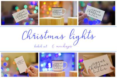 Christmas lights. Mockups set