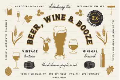 Beer, Wine & Liquor Icons