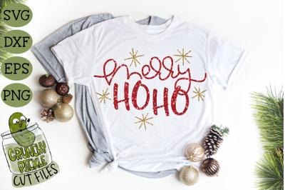 Merry Ho Ho Christmas SVG File