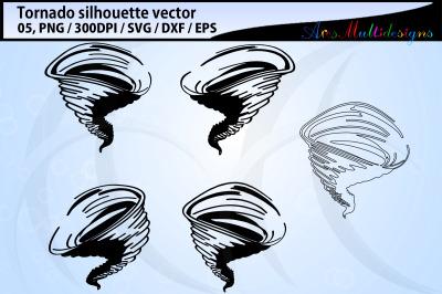 tornado silhouette svg / tornado clipart / tornado svg / tornado vecto