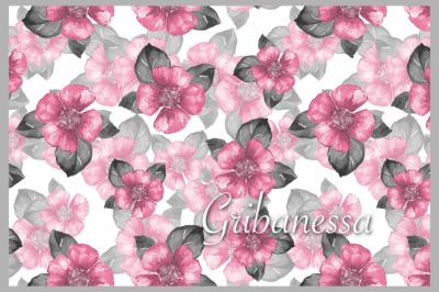Pink seamless pattern 1