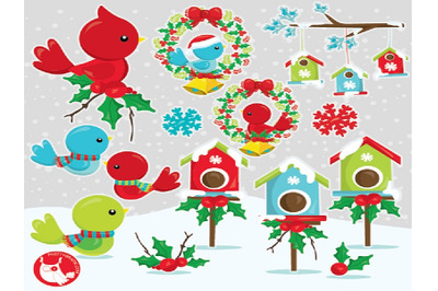 Christmas Bird Cliparts