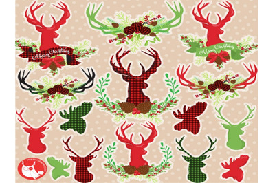 Christmas Antlers Clipart