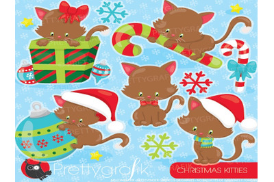 Christmas Cats Clipart