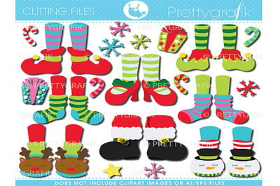 Christmas Feet Cutting Files