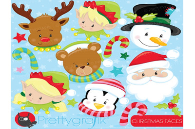 Christmas Faces Cliparts
