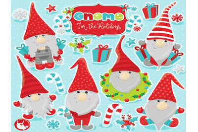 Christmas Gnome Cliparts