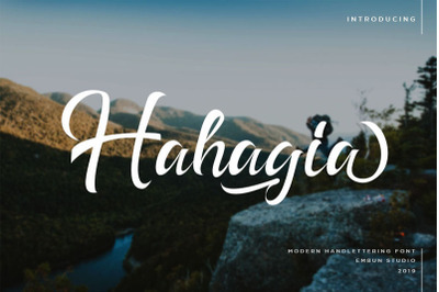 Hahagia Modern Hand-Letter Typeface