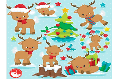 Christmas Reindeer 2 clipart