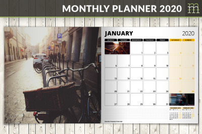 Monthly Planner 2020 (MP017-20-1)