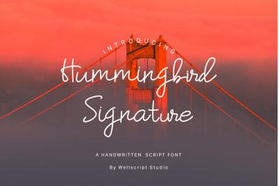 Hummingbird - A Handwritten Script Font