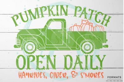 Pumpkin Patch Fall SVG