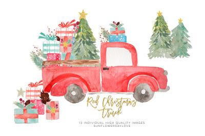christmas truck invitation clipart, Pine Tree clipart