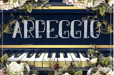 Arpeggio  - Curly Font for Crafters
