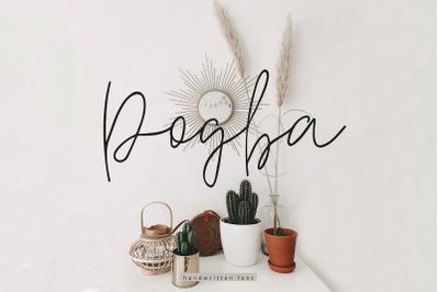 Pogba Multilingual Handwritten Font