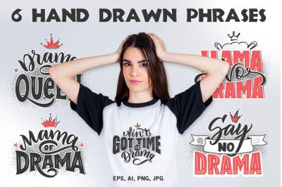 6 lettering phrases for girls