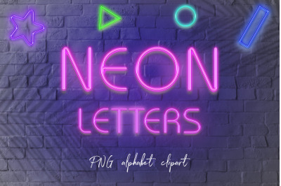 Neon Letters Clipart