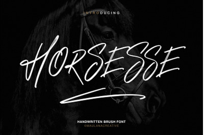 Horsesse Brush Font