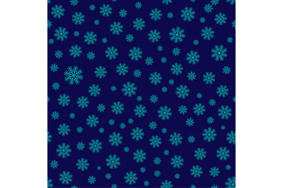 Snowflakes seamless repeating pattern