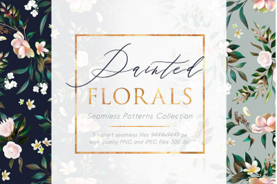 Painted Florals Patterns Collection