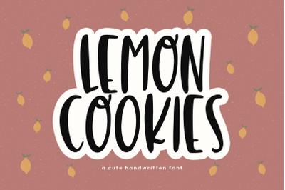 Lemon Cookies - A Fun Handwritten Font