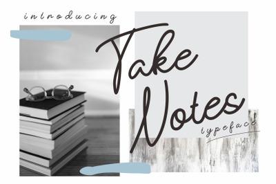 Take Notes Typeface