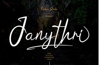 Janythri Script Typeface