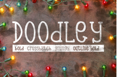 Doodley Font Family: 5 Handcrafted Fonts