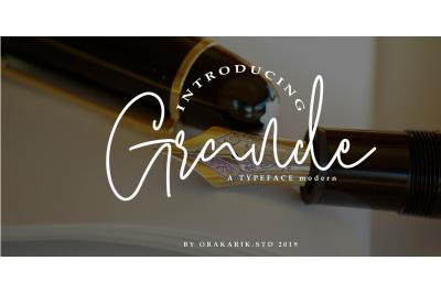 Grande Font Script