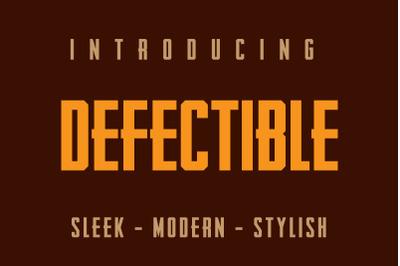 Defectible Bold Condensed BlockLetter Font