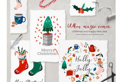 When magic comes... Christmas clipart