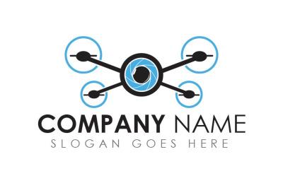 Drone photography camera logo