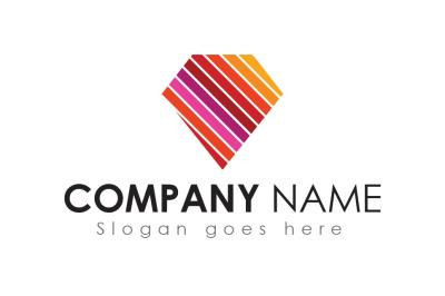 Colorful Diamond Logo Design Template