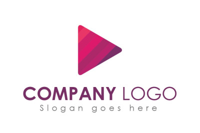 Video Player Logo Design Template
