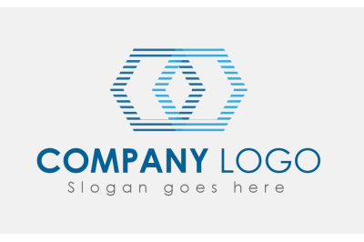 Line Graphics IT Company Logo Design Template