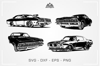 American Muscle Car Packs Svg Design