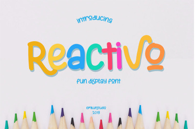 Reactivo Fun Display Font